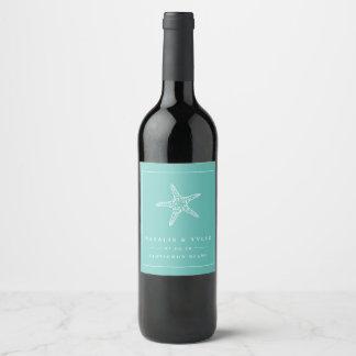 Etiquetas do vinho do favor do casamento da
