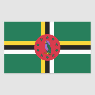 Etiquetas dominiquenses da bandeira