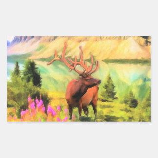 Etiquetas dos animais selvagens dos alces de Bull