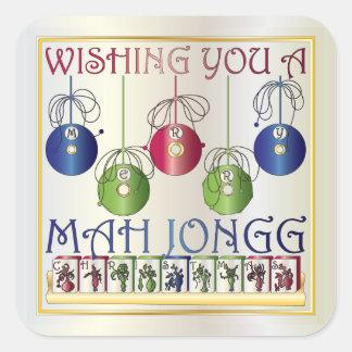 Etiquetas dos Bettors do Natal do Mah Jongg