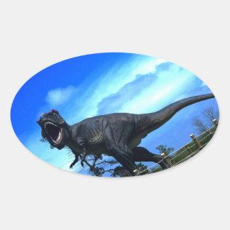 Etiquetas dos dinossauros III Adesivos Em Formato Ovais