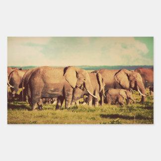 Etiquetas dos elefantes