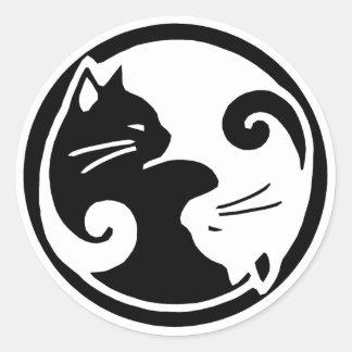 Etiquetas dos gatos de Yin Yang