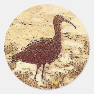 Etiquetas dos íbis do pântano