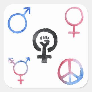 Etiquetas dos ícones do feminismo