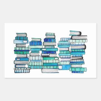 Etiquetas dos livros azuis