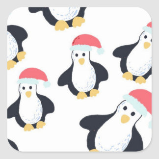Etiquetas dos pinguins do Natal