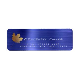 Etiquetas douradas do aço RSVP dos azuis cobaltos