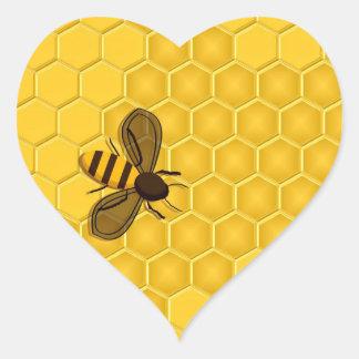 Etiquetas douradas do favo de mel e da abelha