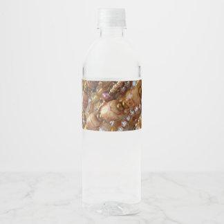 Etiquetas Earthtones da garrafa de água, impressão