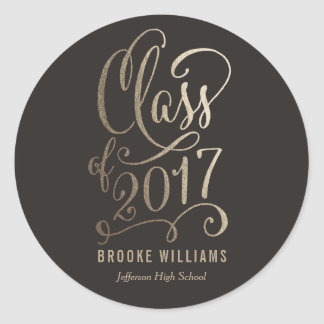 Etiquetas EDITÁVEIS da graduação da COR do ano Adesivo
