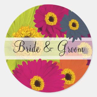 Etiquetas elegantes do casamento da margarida de