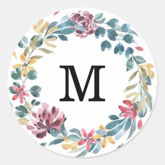 Etiquetas elegantes do casamento do monograma das