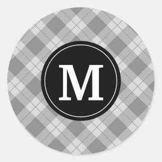 Etiquetas elegantes do monograma do feriado da