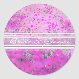 Etiquetas elegantes do petúnia cor-de-rosa