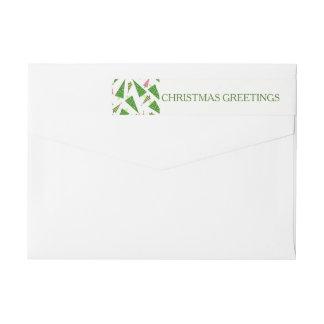 Etiquetas Endereço do remetente vermelho verde dos cartões