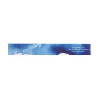 Etiquetas Endereço escuro chique dos azuis marinhos da