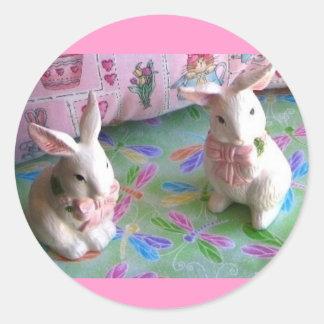 Etiquetas engraçadas do coelho adesivo