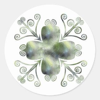 Etiquetas enroladas textura do design do vidro adesivo em formato redondo