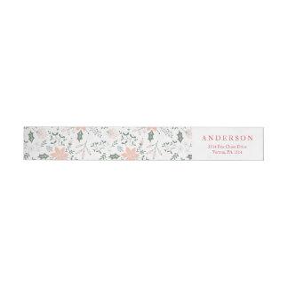 Etiquetas Envoltório floral do feriado do quadro em torno
