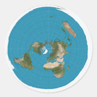 Etiquetas equidistantes Azimuthal do mapa da terra