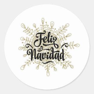 Etiquetas espanholas do Natal de Feliz Navidad