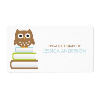 Etiquetas espertas dos Bookplates da coruja