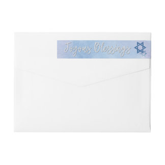 Etiquetas Estrela de David azul & branca Hanukkah da