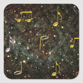 Etiquetas estrelados do céu das notas musicais do