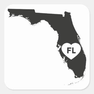 Etiquetas eu amo o estado de Florida
