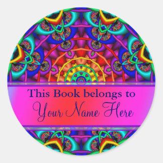 Etiquetas ex do Bookplate de Libris