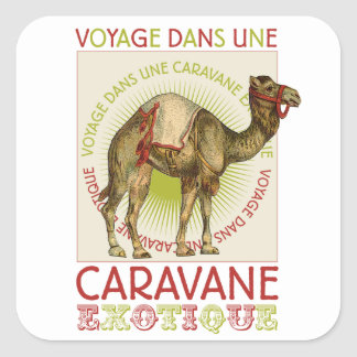 Etiquetas exóticas do camelo da caravana