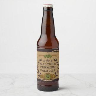 Etiquetas feitas sob encomenda da cerveja do