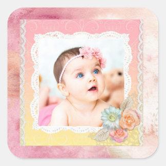 Etiquetas feitas sob encomenda da foto do bebê ou