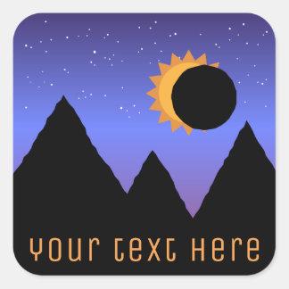 Etiquetas feitas sob encomenda do eclipse solar