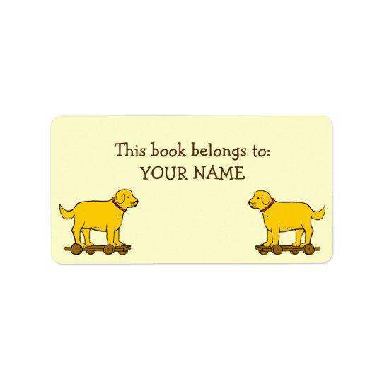 Etiquetas feitas sob encomenda do livro do cão de