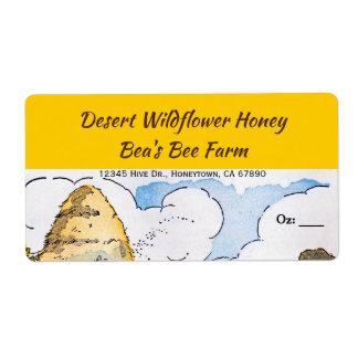 Etiquetas feitas sob encomenda do mel da colmeia