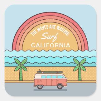 Etiquetas feitas sob encomenda do surfista do