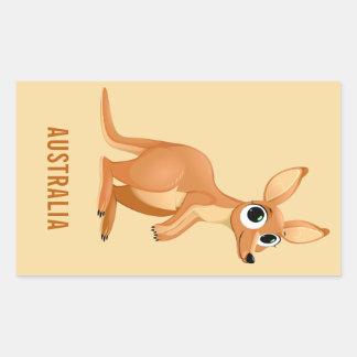 Etiquetas feitas sob encomenda do texto do canguru