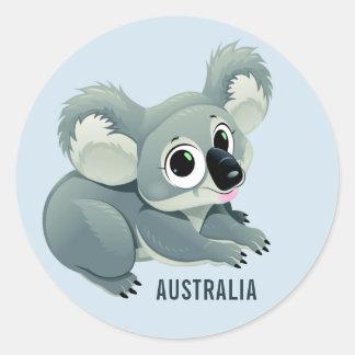 Etiquetas feitas sob encomenda do texto do Koala