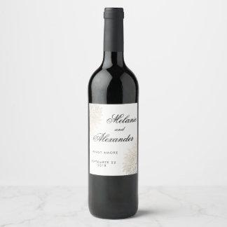Etiquetas feitas sob encomenda do vinho do laço do