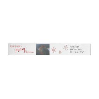 Etiquetas Feliz Natal dos passarinhos do inverno |
