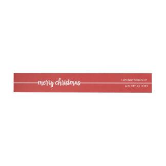 Etiquetas Feliz Natal endereço do remetente, você escolhe a