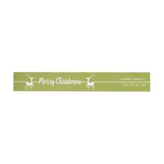 Etiquetas Feliz Natal rena da modificação, você escolhe a