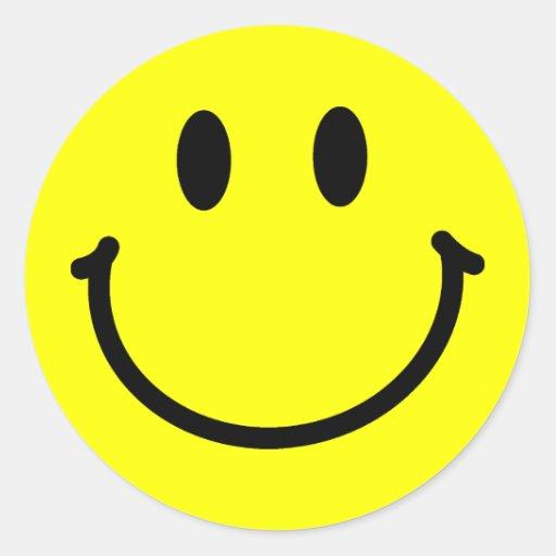 Etiquetas felizes da cara adesivos em formato redondos