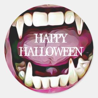Etiquetas felizes das presas do vampiro do Dia das