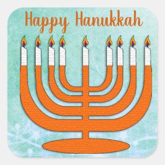 Etiquetas felizes de Hanukkah Menorah