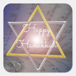 Etiquetas felizes de Menorah da estrela de David