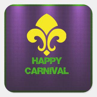 Etiquetas felizes do carnaval adesivos quadrados