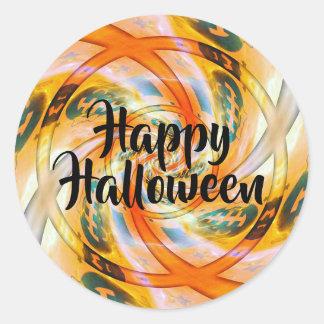 Etiquetas felizes torcidas do Dia das Bruxas